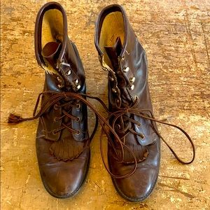 Vintage Brown Leather Boots - Super Cool